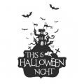 """Наклейка """"Ночь на halloween"""""""