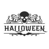 """Наклейка """"Орнаменты для хэллоуина, череп"""""""
