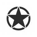 "Наклейка на авто ""Армейская звезда"""