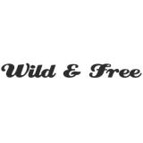 "Наклейка на авто ""Wild and free"""