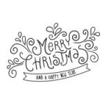 """Наклейка """"Merry Christmas"""""""