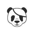"""Наклейка на авто """"Панда-пират"""""""