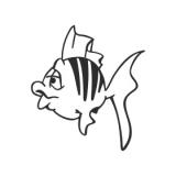 "Наклейка на авто ""Золотая рыбка"""