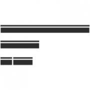 Комплект спортивных полос на автомобиль Рено Дастер, вид 1