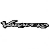 """Наклейка """"Varadero"""" 34 х 6 см, серебристо-чёрная"""