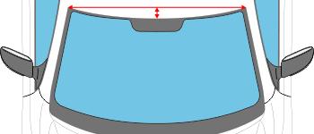 Рпимер размеров полос на лобовое стекло