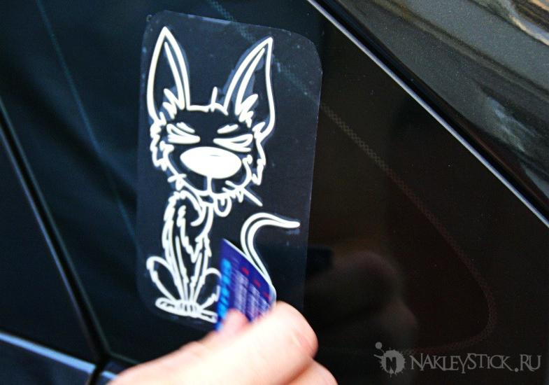 Как приклеить виниловую наклейку на автомобиль 8