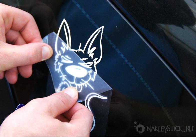 Как приклеить виниловую наклейку на автомобиль 9